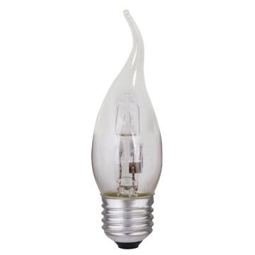 HALOGEN 28W E27 CANDLE FLAME CLEAR
