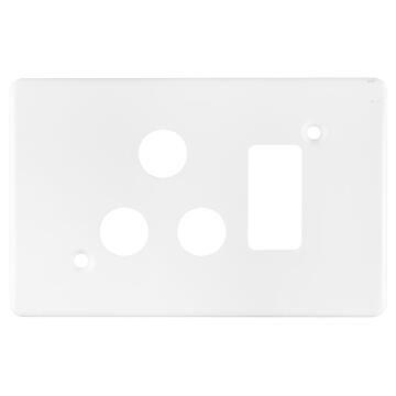 C.PLATE 2X4 SOCKET 3P CRABTREE WHITE
