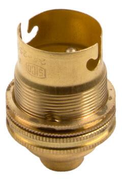 B HOLDER B22 W/E.SCREW EUROLUX BRASS