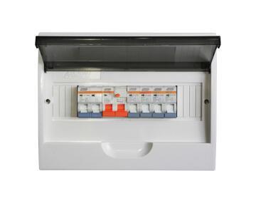 Distribution board flush mounted populated MAJOR TECH 12 way
