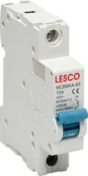 Circuit breaker DIN rail 10Amp LESCO