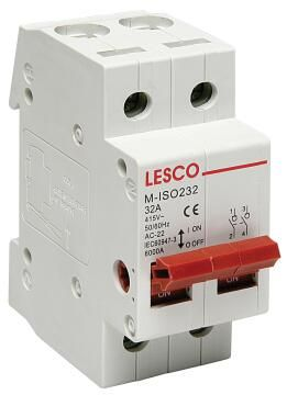 Circuit breaker DIN rail 32Amp LESCO