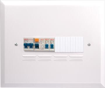 DB board populated 9 ways flush mounted LESCO