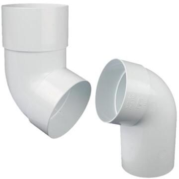 UPVC Round Downpipe Swanneck 110o VYNADEEP