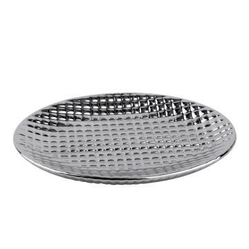 Soap dish ceramic SENSEA Queen silver