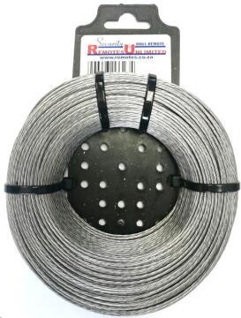 Alarm wire braided aluminium 1.6mm 100m