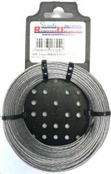 Alarm wire braided aluminium 1.6mm 35m