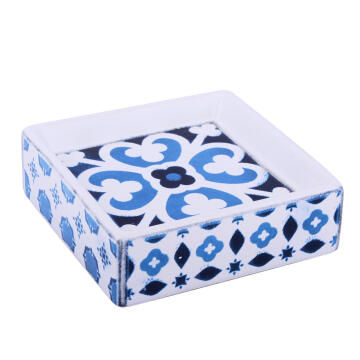 Soap dish ceramic SENSEA mosaic blue