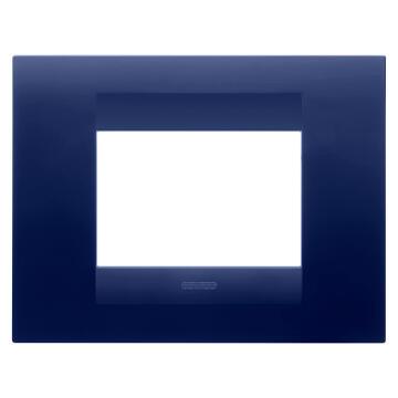 C.PLATE 2X4 3 GS TOPAZ BLUE GEWISS