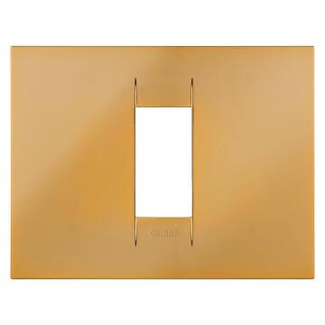 C.PLATE 2X4 1 G GOLD GEWISS