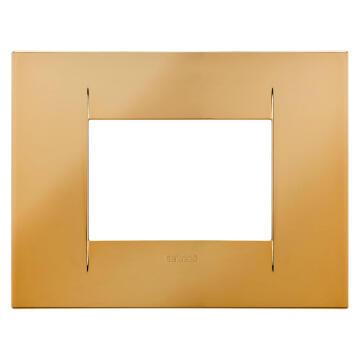 C.PLATE 2X4 3 GS GOLD GEWISS