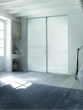 Wardrobe sliding door allure lacquered glass white H250cm x W62cm