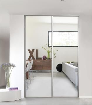 Wardrobe sliding door allure mirror H250cm x W62cm