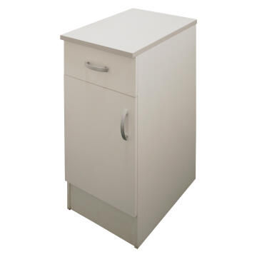Kitchen base cabinet kit 1 drawer/1 door SPRINT white L40cmxH87cmxD60cm