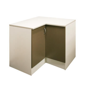 Kitchen base cabinet kit corner 2 door SPRINT espresso L100cmxH87cmxD100cm