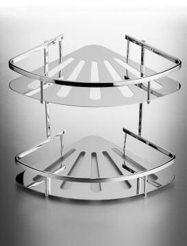 Shower caddie 2 tier corner basket
