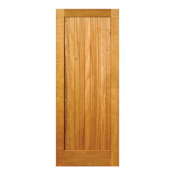 Service Door Engineered Wood with Hardwood Veneer Framed, Ledged & Battened Open Back Winster-w813xh2032mm