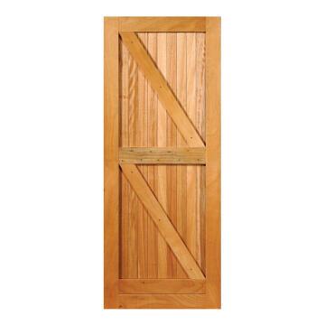 Service Door Engineered Wood with Hardwood Veneer Braces for Framed,Ledged&BattenedOpenBack Winster-w813xh2032mm