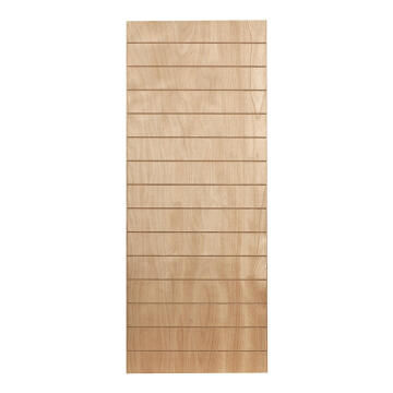 Interior Door Fire Resistant Hard Board with Veneer Horizontal Slats 2 Concealed Edges-w813xh2032mm