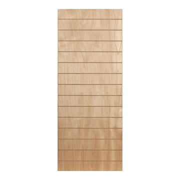 Interior Door Hard Board with Veneer Hollow Core Horizontal Slats 2 Concealed Edges-w813xh2032mm