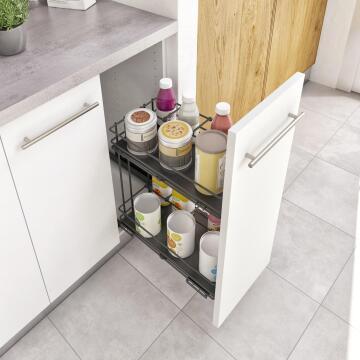 Kitchen sliding basket for btoom cabinet 30cm DIM:56X30X76,8X1,6