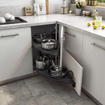 Kitchen sliding wire basket 2 level grey 58cm X106cm X76.8cm