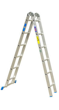 Dual Function Ladder 6/12 step Aluminium GRAVITY