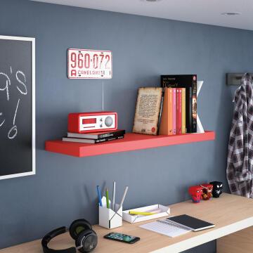 Shelf floating red 80cm x 23cm