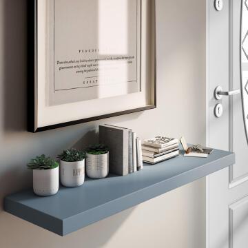 Floating shelf grey 80x23cm