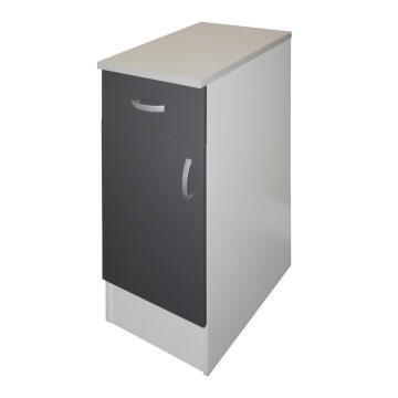 Kitchen base cabinet kit 1 drawer/1 door SPRINT grey L40cmxH87cmxD60cm