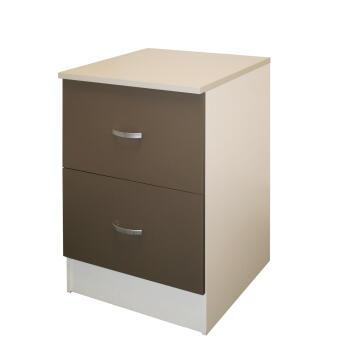 Kitchen base cabinet kit 2 drawer SPRINT espresso L60cmxH87cmxD60cm
