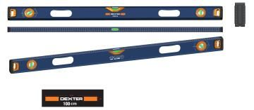 Spirit level adjustable DEXTER 1000mm