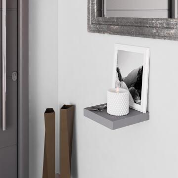 Floating shelf grey 23x23cm