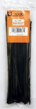 CABLE TIE 300X4.7MM ZOOID BLK X30