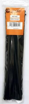 CABLE TIE 400X4.7MM ZOOID BLK X100
