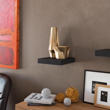 Floating shelf black 23x23cm