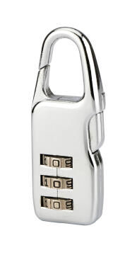 Combination padlock nickel finish 40mm thirard