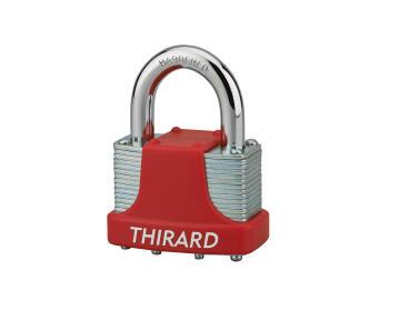 Combination padlock laminated thirard