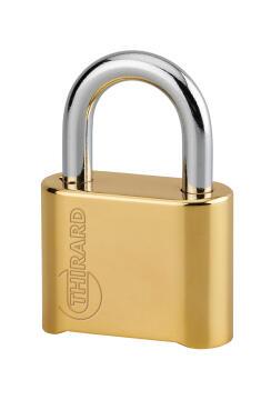Combination padlock brass body 50mm thirard