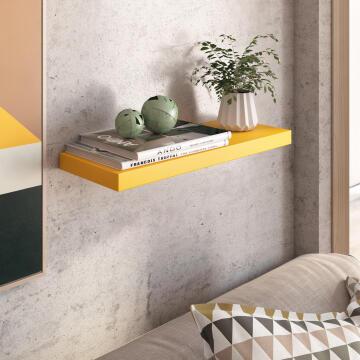 Floating shelf yellow 60x23cm