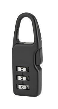 Combination padlock thirard black finish