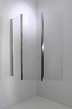 Bathscreen 3 panel glass SALINA 130X130CM
