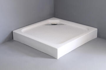 Shower tray acrylic square waste 90X90X15cm