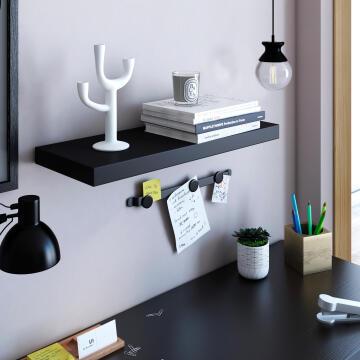 Floating shelf black 60x23cm