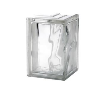Glass Block Clear Wave Corner