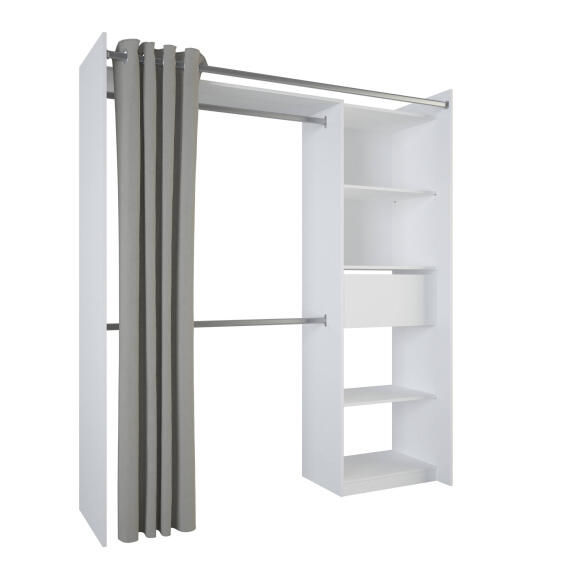 Wardrobe Kit 1 Drawer With Curtain White H203cm X W178cm Leroy Merlin South Africa