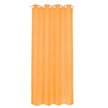 SHEER CURT POLY ORANGE2 140X280CM