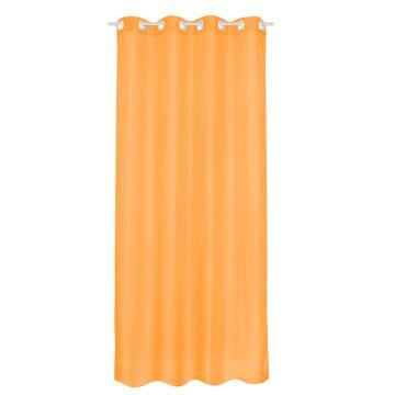 Sheer Curtain Polyester Orange 140x280cm