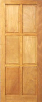 Entry Door Mixed Timber 6 Panel-w813xh2032mm