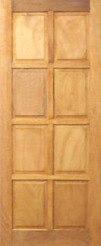 Entry Door Mixed Timber 8 Panel-w813xh2032mm